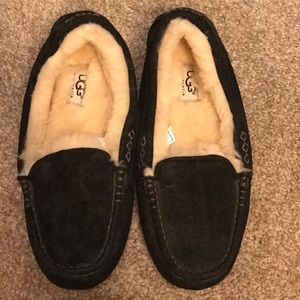 Ugg wool loafers.